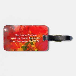 Mutiger u. Chic-roter TulpeWatercolor abstrakt Kofferanhänger
