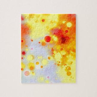 Mutiger u. Chicgelber roter orange Watercolor Puzzle