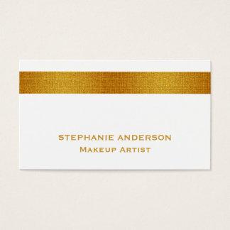 Mutiger und eleganter weißes Goldgestreifter Visitenkarte