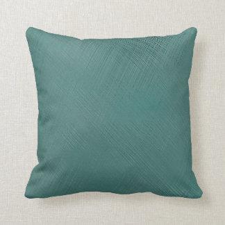 Mutiges aquamarines Grün Kissen