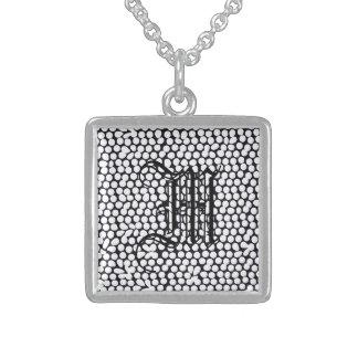 Mutiges geometrisches Schwarzes Sterling Silberkette