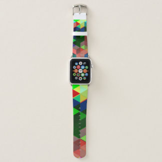 Mutiges geometrisches Würfel-Muster Apple Watch Armband