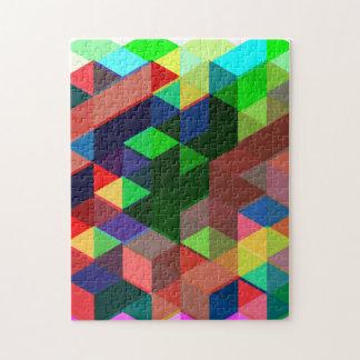 Mutiges geometrisches Würfel-Muster Puzzle