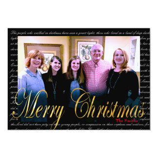 Mutiges Gold der frohen Weihnachten, das Karte