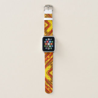 mutiges Goldrotes orange geometrisches Apple Watch Armband