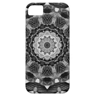 Mutiges Kaleidoskop1bw mandala-Fraktal Chakra Etui Fürs iPhone 5