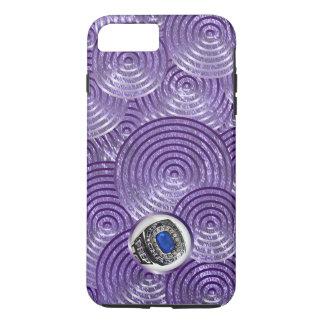 Mutiges königliches lila Spritzen mit Fenster iPhone 8 Plus/7 Plus Hülle