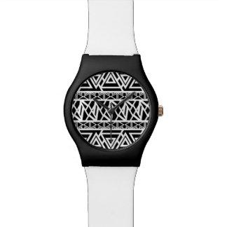 Mutiges Stammes- Schwarzes Armbanduhr