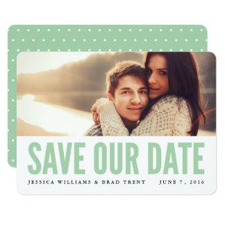 Mutiges tadelloses modernes Foto Save the Date 12,7 X 17,8 Cm Einladungskarte