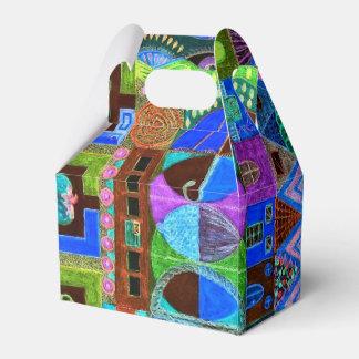 Mutiges u. buntes Mosaik von Formen Geschenkschachtel