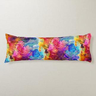 Mutiges u. helles Aquarell-Blumenmuster Seitenschläferkissen