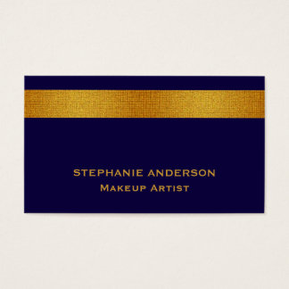 Mutiges und elegantes blaues Goldgestreifter Visitenkarte