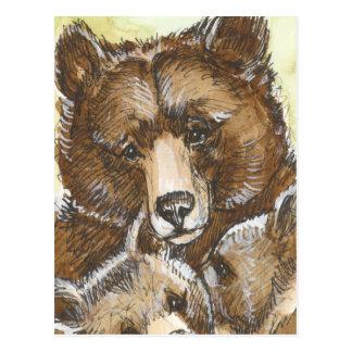 Mutter-Bär und CUB Postkarte