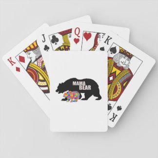 Mutter Bear Autism Awareness Suppor Spielkarten