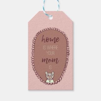 """Mutter Bear Illustration """"Zuhause ist, wo Ihre Geschenkanhänger"""