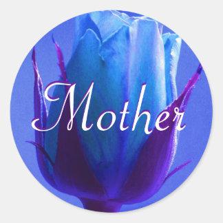 Mutter-blauer Rosen-Aufkleber
