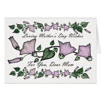 Mutter, Blumen der Mutter Tages Grußkarte