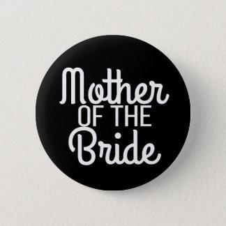 Mutter der Braut-Bürste Wedding Brautknopf Runder Button 5,7 Cm