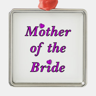Mutter der Braut-einfach Liebe Silbernes Ornament