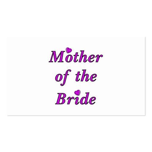 Mutter der Braut-einfach Liebe Visitenkartenvorlagen