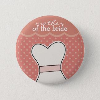 Mutter der Braut -- Hochzeitskleider//-ROSA Runder Button 5,1 Cm