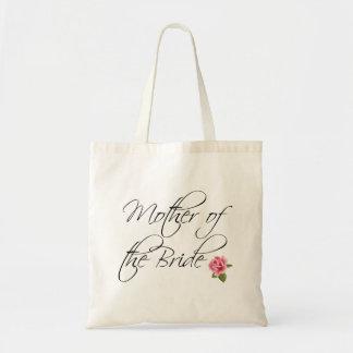 Mutter der Braut-Kalligraphie und der Rose Budget Stoffbeutel