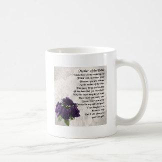 Mutter der Braut - lila Rosen Kaffeetasse