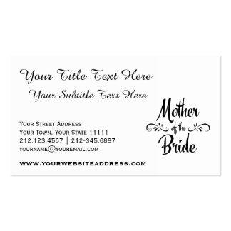 Mutter der Braut - lustiges Proben-Abendessen Visitenkarten