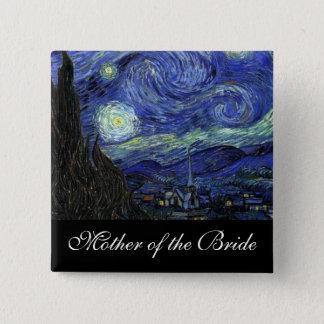 Mutter der Braut sternenklaren Nacht Quadratischer Button 5,1 Cm