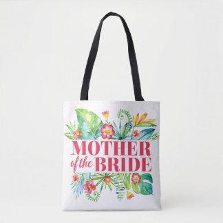 Mutter der Braut-tropischen Hochzeit in Urlaubsort Tasche