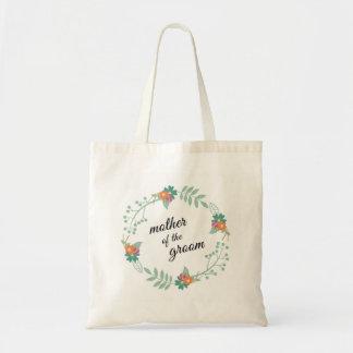 Mutter der Bräutigam-BlumenKranz-Hochzeit Budget Stoffbeutel