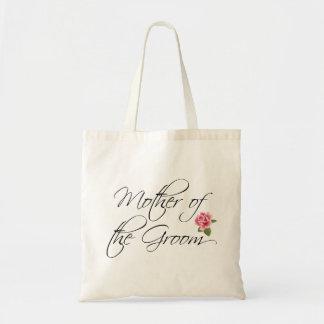 Mutter der Bräutigam-Kalligraphie und der Rose Budget Stoffbeutel