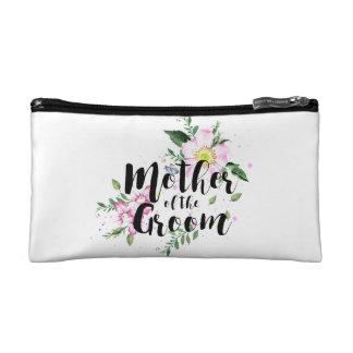 Mutter der Bräutigam-Rosa-BlumenAquarell-Hochzeit Kosmetiktasche