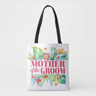 Mutter der Bräutigam-tropischen Hochzeit in Tasche