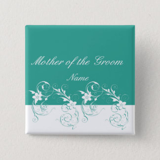 Mutter der eleganten Hochzeit des Bräutigams Quadratischer Button 5,1 Cm