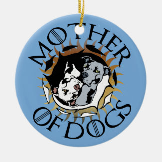 Mutter der HundeKeramik-Verzierung Keramik Ornament
