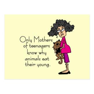 Mütter der Jugendlicher Postkarte