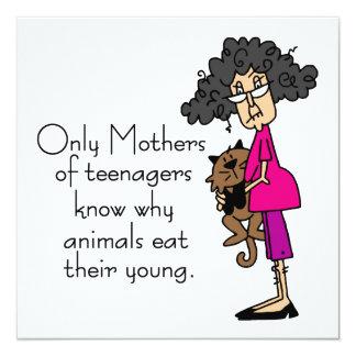 Mütter der Jugendlicher Quadratische 13,3 Cm Einladungskarte