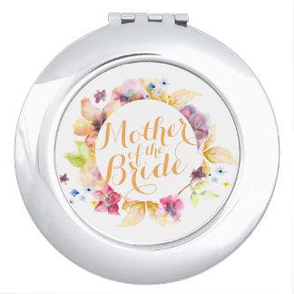Mutter des Braut-Blumenhochzeits-Vertrags-Spiegels Schminkspiegel
