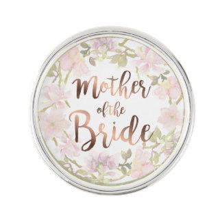 Mutter des Braut-Blumenrevers-Buttons Anstecknadel