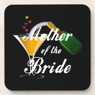 Mutter des Braut-Champagne-Toasts Cocktail Untersetzer