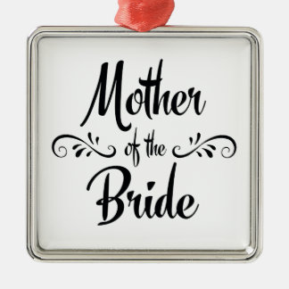 Mutter des Braut-Hochzeits-Gedächtnisses Silbernes Ornament