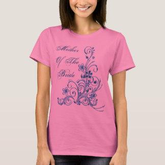 Mutter des Braut-T - Shirt: Himmel-Blau-Eleganz T-Shirt