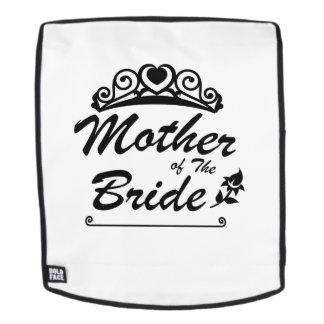 Mutter des Braut-Team-Hochzeits-Braut-Bräutigams s Rucksack