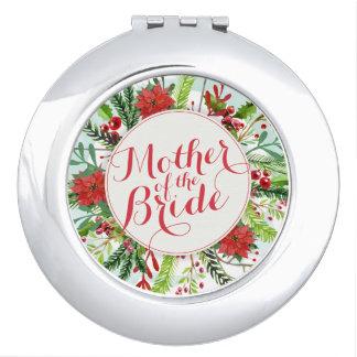 Mutter des Braut-Weihnachtshochzeits-Spiegels Taschenspiegel