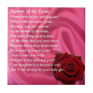 Mutter des Brautgedichtes - rosa Seide u. Rose Fliese