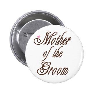 Mutter des Bräutigam-noblen Brauns Runder Button 5,7 Cm