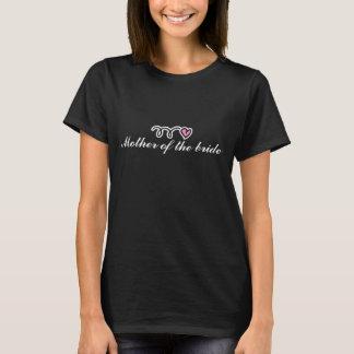 Mutter des Brautt-shirts mit wenig rosa Herzen T-Shirt