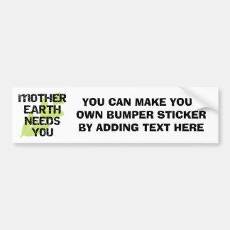 Mutter-Erdbedarf Sie T - Shirts und Geschenke Autoaufkleber