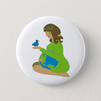 Mutter Erde (Gaia) Runder Button 5,7 Cm